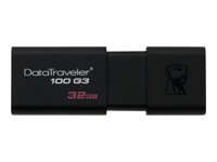 Kingston DataTraveler 100 G3 - Clé USB - 32 Go - USB 3.0 - noir DT100G3/32GB